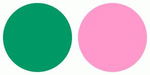 Color Scheme with #009966 #FF99CC