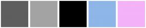 Color Scheme with #5E5E5E #A3A3A3 #000000 #8EB6E6 #F4B2F7