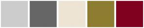 Color Scheme with #CCCCCC #666666 #EEE4D3 #8D7D30 #800020