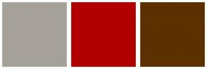 Color Scheme with #A5A199 #B00000 #5C3000
