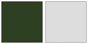 Color Scheme with #2D4022 #DDDDDD