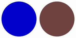 Color Scheme with #0000CC #6F4242