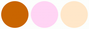 Color Scheme with #C96500 #FFD4F4 #FFE7C9