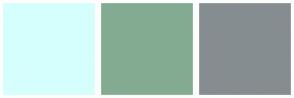 Color Scheme with #D5FFFD #83AB92 #868D91