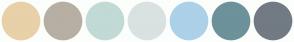 Color Scheme with #E8D0A9 #B7AFA3 #C1DAD6 #D9E2E1 #ACD1E9 #6D929B #727B84