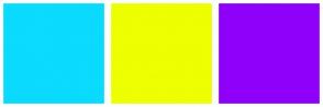 Color Scheme with #0ADBFF #EDFF00 #8F00FA