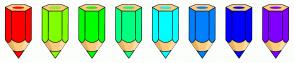 Color Scheme with #FF0000 #80FF00 #00FF00 #00FF80 #00FFFF #0080FF #0000FF #8000FF