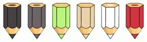 Color Scheme with #484043 #6E6568 #BBF57D #EAD3A8 #FFFFFF #D23641