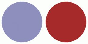 Color Scheme with #8F8FBD #A62A2A
