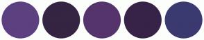 Color Scheme with #5C4080 #352442 #55346B #372347 #3A3A70