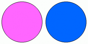 Color Scheme with #FF66FF #0066FF