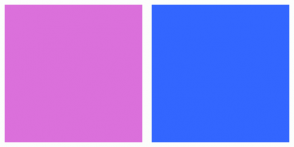 Color Scheme with #DB70DB #3366FF