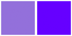Color Scheme with #9370DB #6600FF