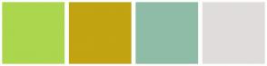 Color Scheme with #ACD64E #C2A312 #8FBCA6 #E1DCDC