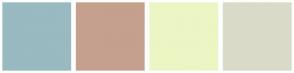 Color Scheme with #98BAC0 #C5A08E #EBF6C4 #DADAC9