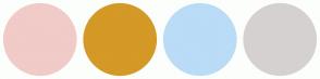Color Scheme with #F0CBC8 #D49926 #BADCF7 #D6D1D1