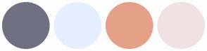 Color Scheme with #707083 #E5EFFF #E5A188 #F0E2E2