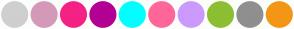 Color Scheme with #CECFCE #D499B9 #F42284 #B30094 #00FFFF #FF6699 #CC99FF #8CBF31 #8F8F8F #F49615