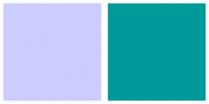 Color Scheme with #CCCCFF #009999