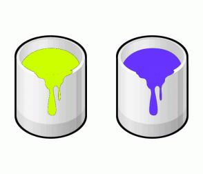 Color Scheme with #CCFF00 #6633FF