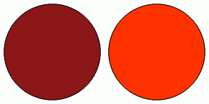 Color Scheme with #8C1717 #FF3300
