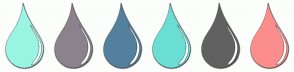 Color Scheme with #9AF5E3 #8C828C #54809E #6ADED2 #616161 #FC8D8D
