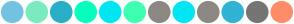 Color Scheme with #74C2E1 #7AEBBE #2AAFC7 #07FEBD #00E6F2 #3DFFB1 #8C8984 #00E6F2 #8C8984 #31B3D4 #757575 #FF8C69