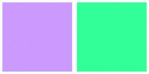 Color Scheme with #CC99FF #33FF99