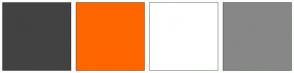 Color Scheme with #424242 #FF6600 #FFFFFF #878787