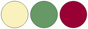 Color Scheme with #FAF2BE #669966 #990033