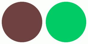 Color Scheme with #6F4242 #00CC66