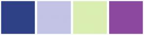 Color Scheme with #2F4086 #C3C3E5 #DAEEB2 #8C489F