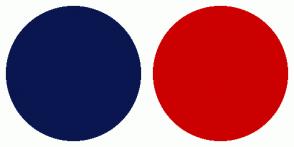 Color Scheme with #0A1650 #CC0000