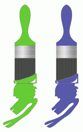 Color Scheme with #66CC33 #5959AB