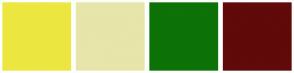 Color Scheme with #ECE740 #E7E5AA #0D7207 #600A0A