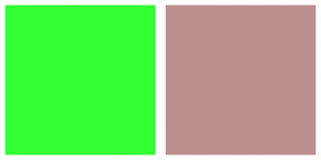 Color Scheme with #33FF33 #BC8F8F