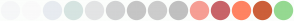 Color Scheme with #F6F7F8 #FAFAFA #E7EBF0 #D6E4E1 #E3E4E5 #D1D2D3 #C5C5C5 #CCCCCC #C0C0C0 #F69E94 #C86368 #FF8362 #CC5F39 #95D991