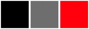 Color Scheme with #000000 #6E6E6E #FF000D
