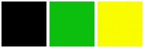 Color Scheme with #000000 #0DBF0D #FAFC00