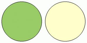 Color Scheme with #99CC66 #FFFFCC
