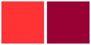 Color Scheme with #FF3333 #990033