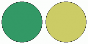 Color Scheme with #339966 #CCCC66
