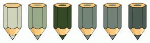 Color Scheme with #D0D4BA #9AAB89 #354A26 #738678 #738276 #4D5D53