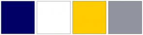 Color Scheme with #000066 #FFFFFF #FFCC00 #91949E