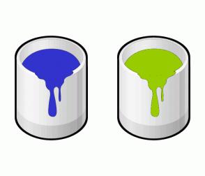 Color Scheme with #3232CD #99CC00