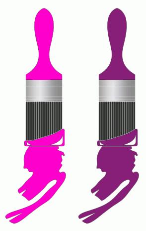 Color Scheme with #FF00CC #871F78