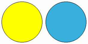 Color Scheme with #FFFF00 #38B0DE