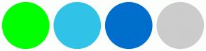 Color Scheme with #00FF00 #31C3E7 #006ECC #CCCCCC