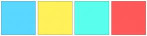 Color Scheme with #59D7FF #FFF159 #59FFEC #FF5959