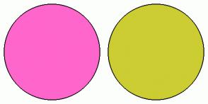 Color Scheme with #FF66CC #CCCC33